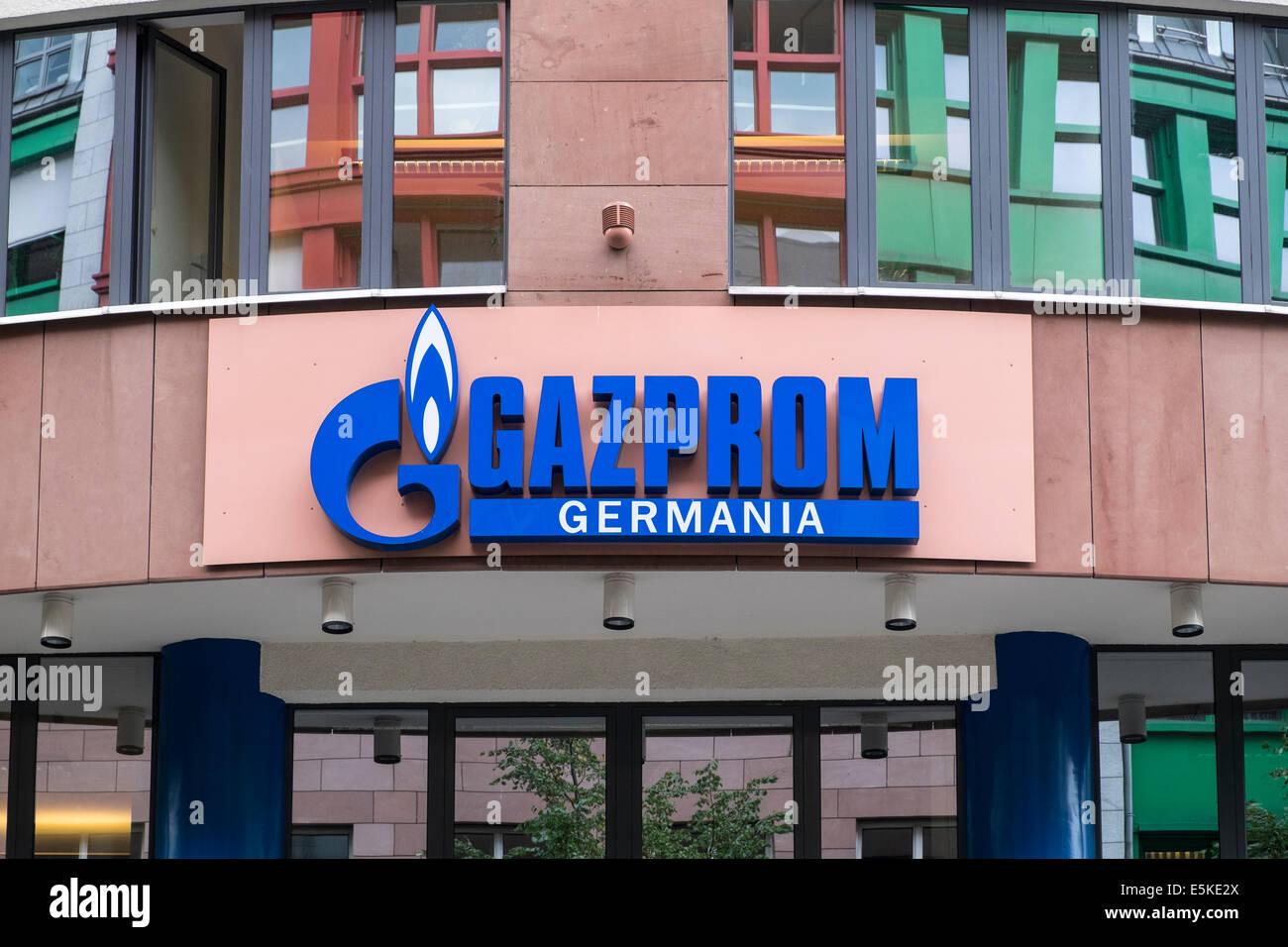 La sede centrale di Gazprom Germania Berlino Germania Immagini Stock