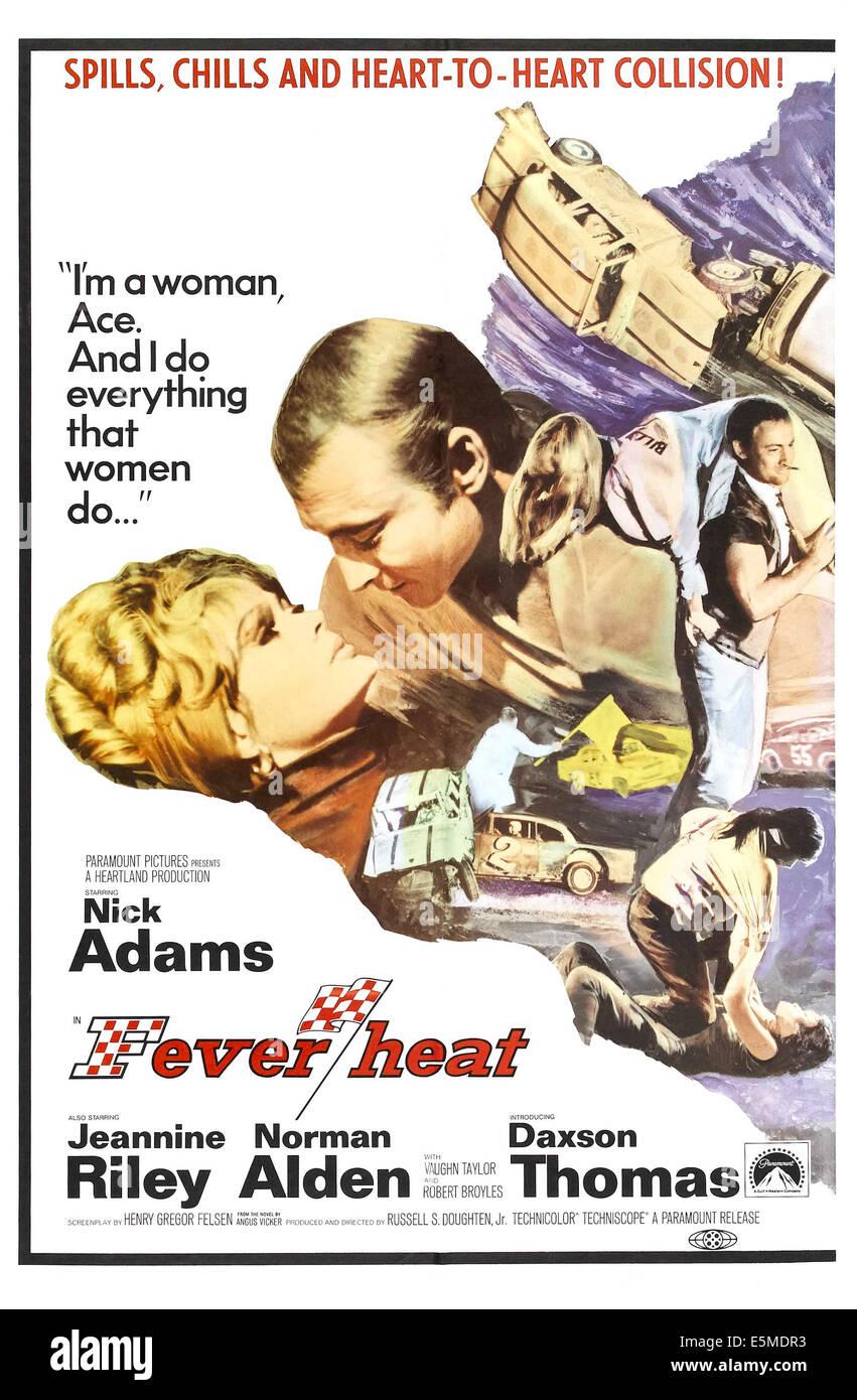 La febbre di calore: sdraiato da sinistra: Jeannine Riley, Nick Adams, Jeannine Riley (trasportata), Nick Adams Immagini Stock
