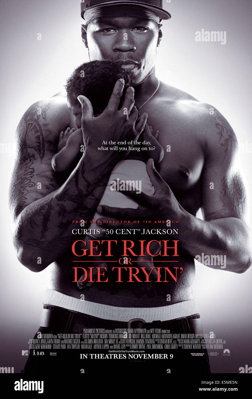 "GET RICH O MORIRE cercavo', Curtis ""50 Cent"" Jackson, 2005, (c)Paramount/cortesia Everett Collection Immagini Stock"