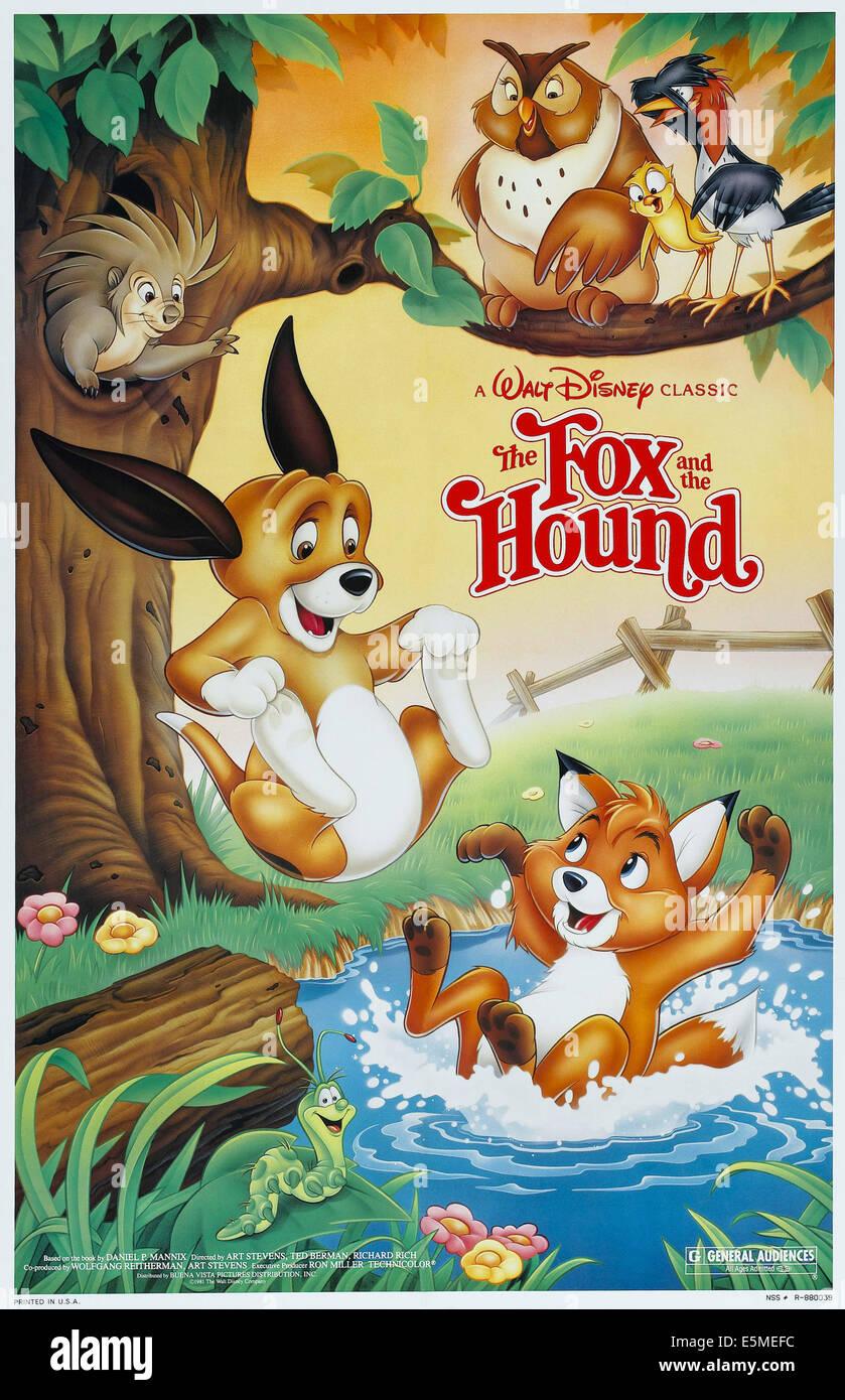 La volpe e il cane noi poster da sinistra: rame tod 1981 © buena