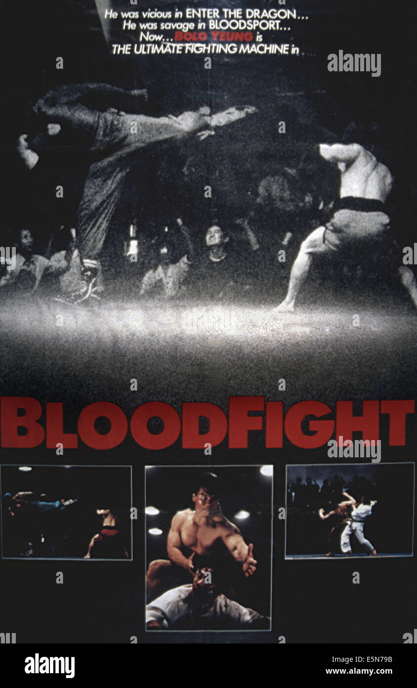 BLOODFIGHT, 1989 Immagini Stock