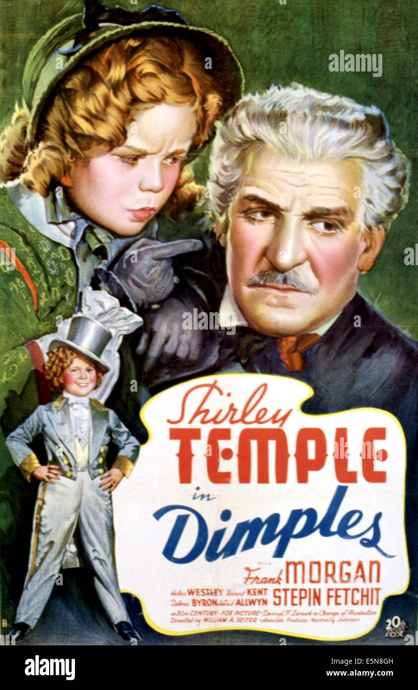 Le fossette, Shirley Temple, Frank Morgan, 1936, scolding suo padre' TM e Copyright (c) XX Century Fox Film Corp. Foto Stock