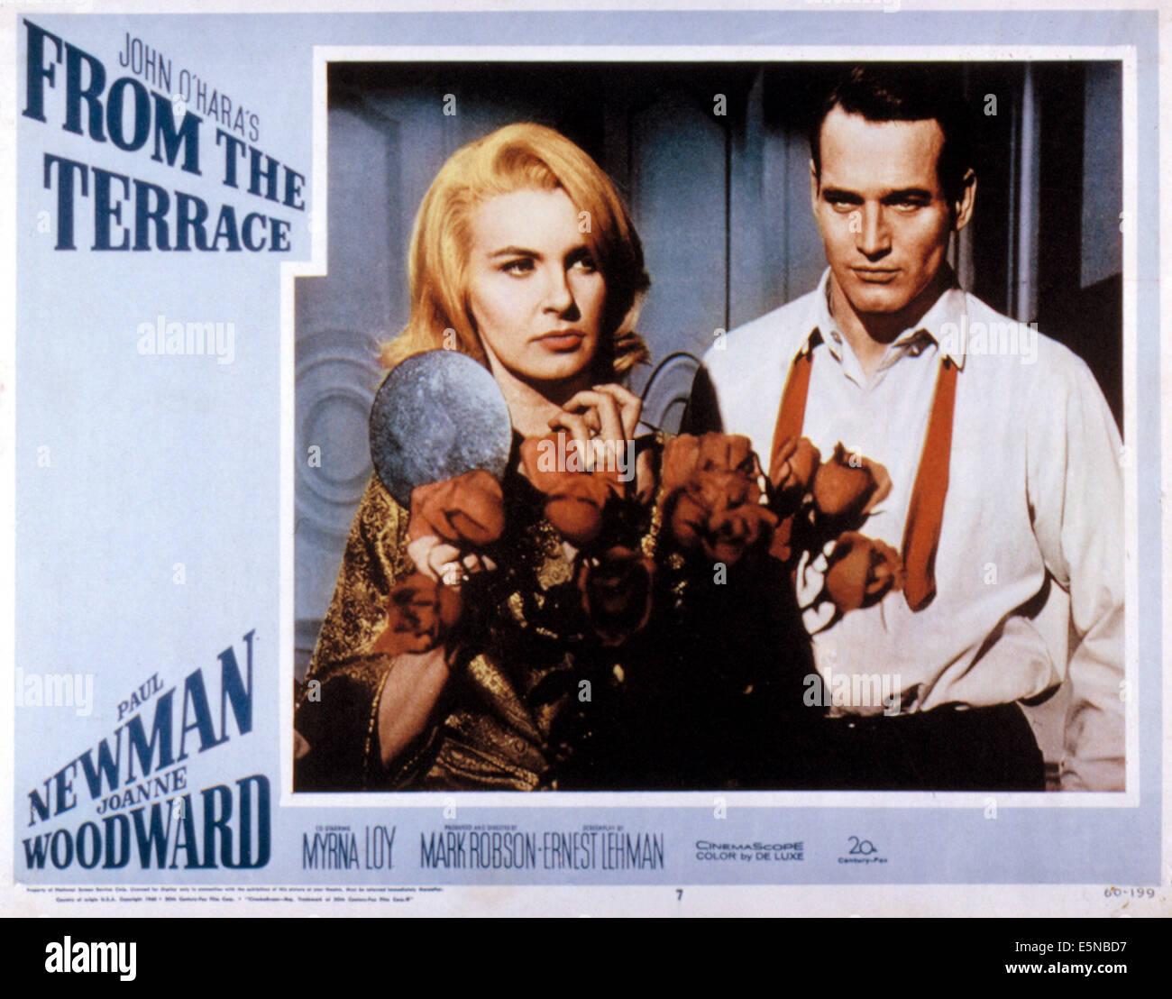 Dalla terrazza, Joanne Woodward, Paul Newman, 1960. TM e Copyright ...