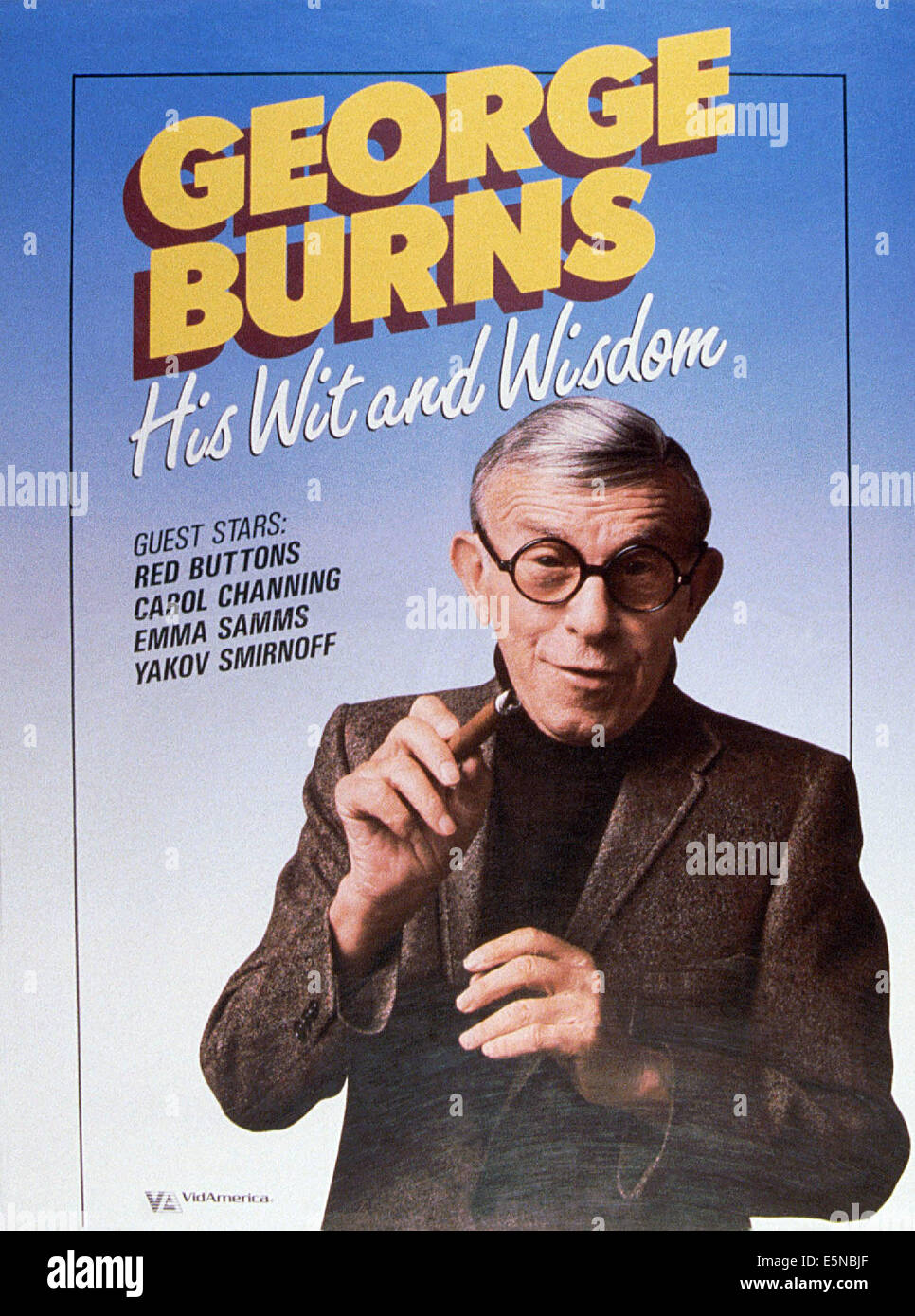 GEORGE BURNS - la sua intelligenza e saggezza, 1989 Immagini Stock