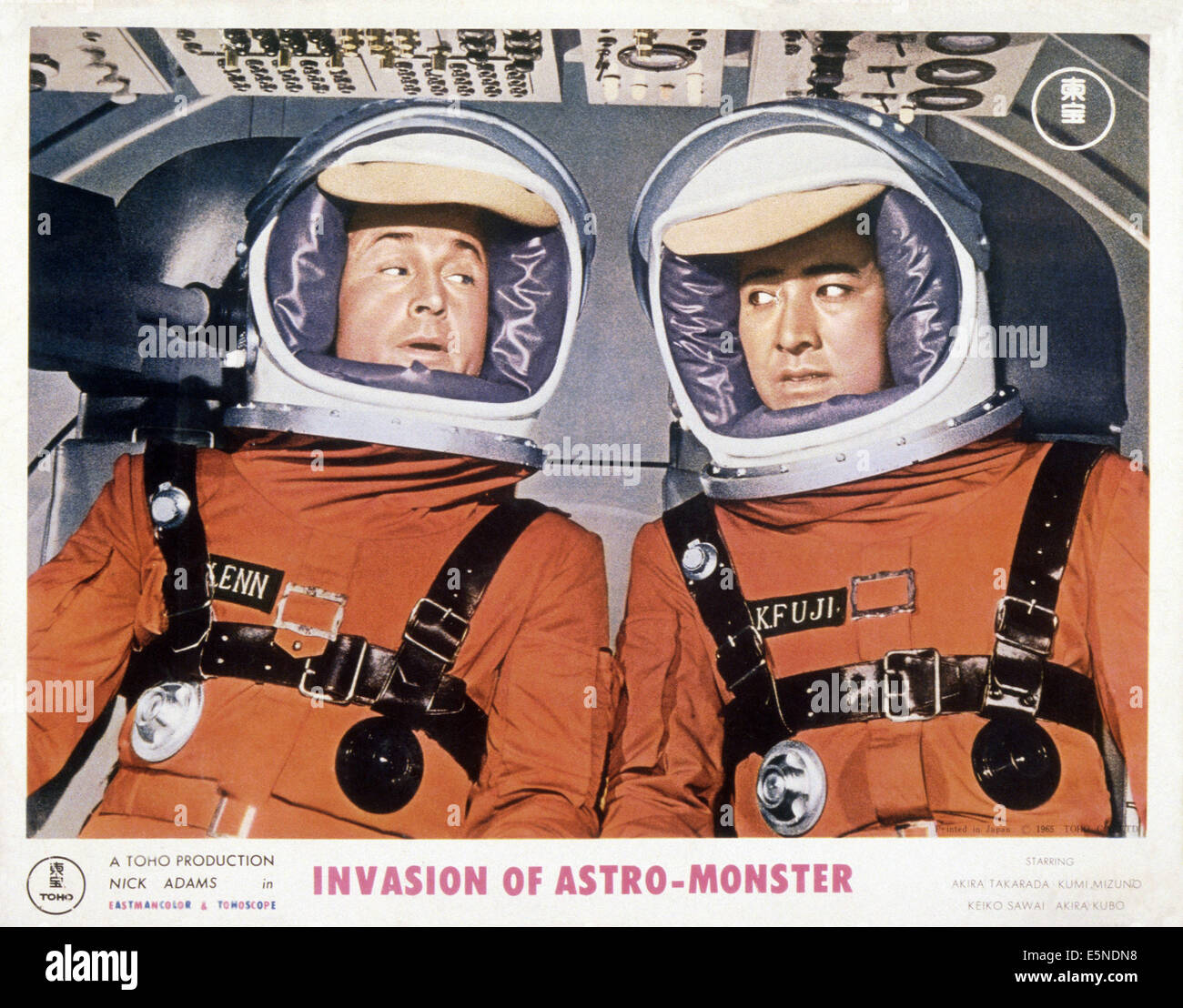 Invasione di astro-MONSTER, (aka KAIJU DAISENSO), da sinistra: Nick Adams, Akira Takarada, 1965 Immagini Stock