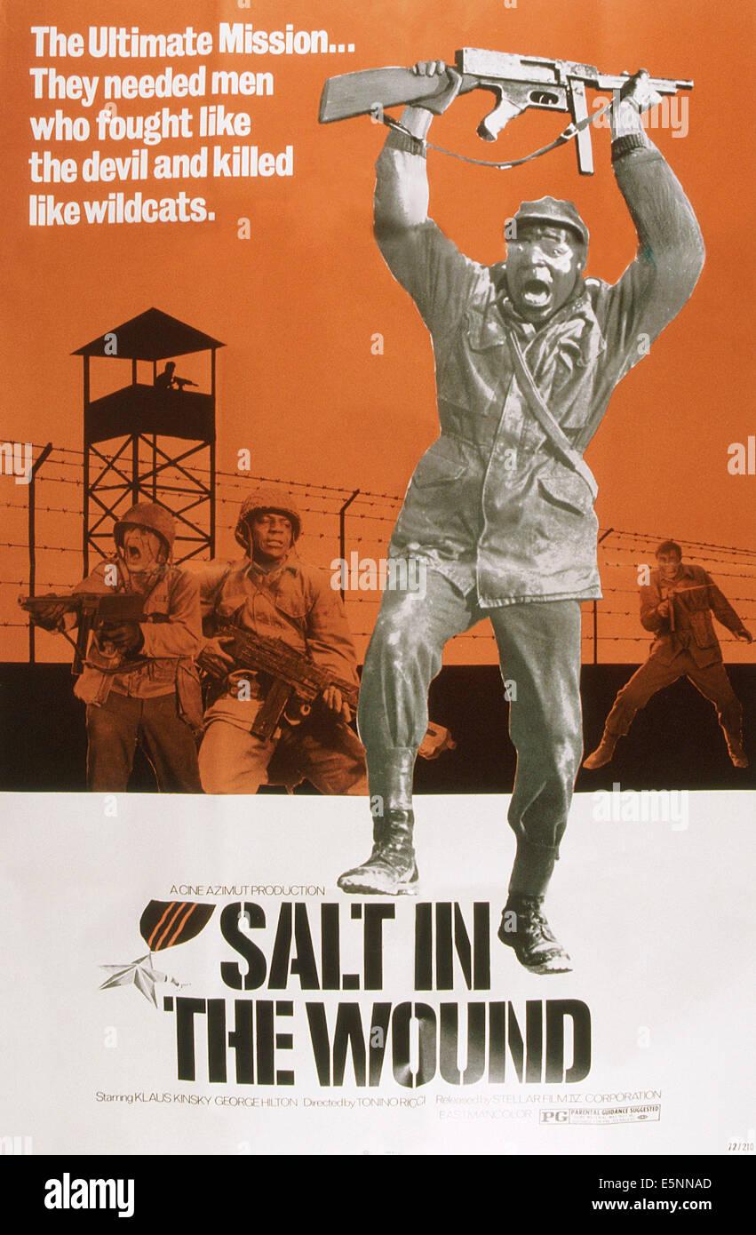 Il sale nella ferita (aka febbre di guerra, aka il dito nella piaga), US poster, 1969 Immagini Stock