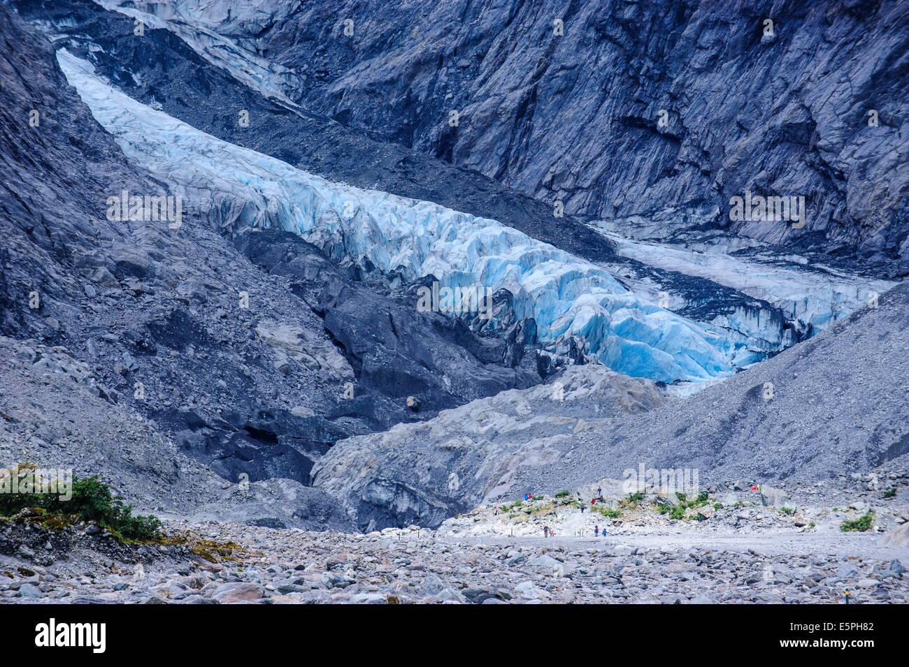 Bocca del ghiacciaio Franz-Joseph, Westland Tai Poutini National Park, Alpi del Sud, sito UNESCO, Isola del Sud, Immagini Stock