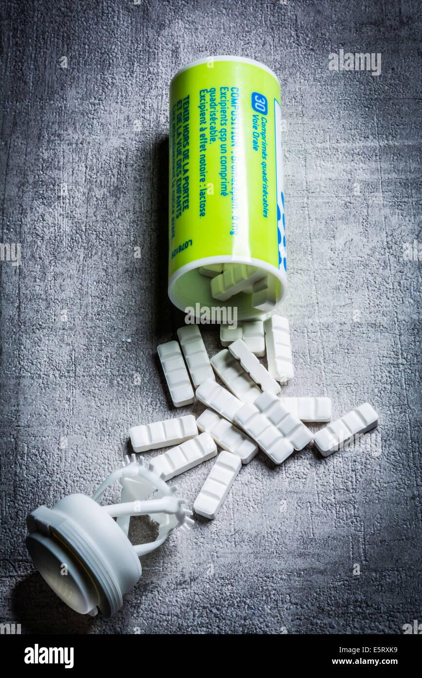 Bromazepan, Lexomil generico. Immagini Stock