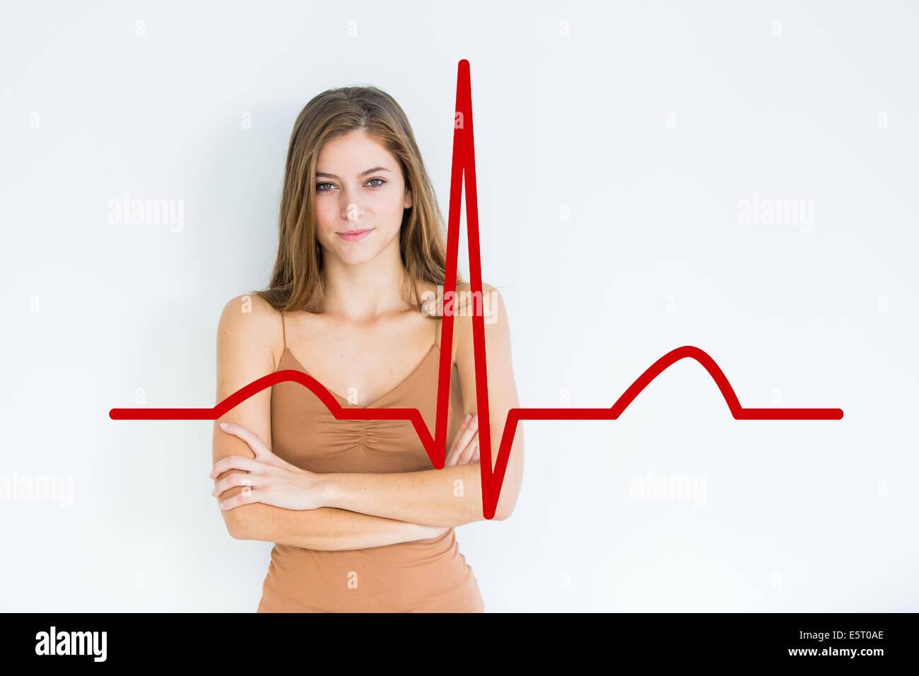 Concetto di cardiologia. Immagini Stock