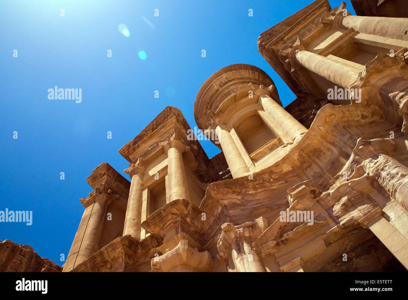 Antico tempio di Petra, Giordania Immagini Stock
