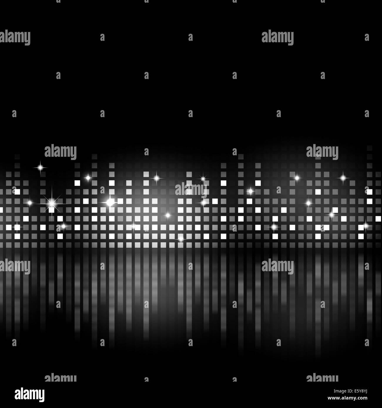 Bianco E Nero Musica Equalizzatore Sfondo Per Parti Attive Foto
