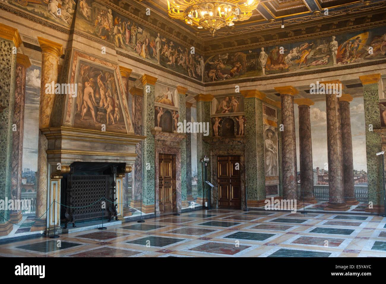 Roma, Italia 2014 - Villa Farnesina, un rinascimentale villa suburbana in Via della Lungara, nel quartiere di Trastevere. Immagini Stock