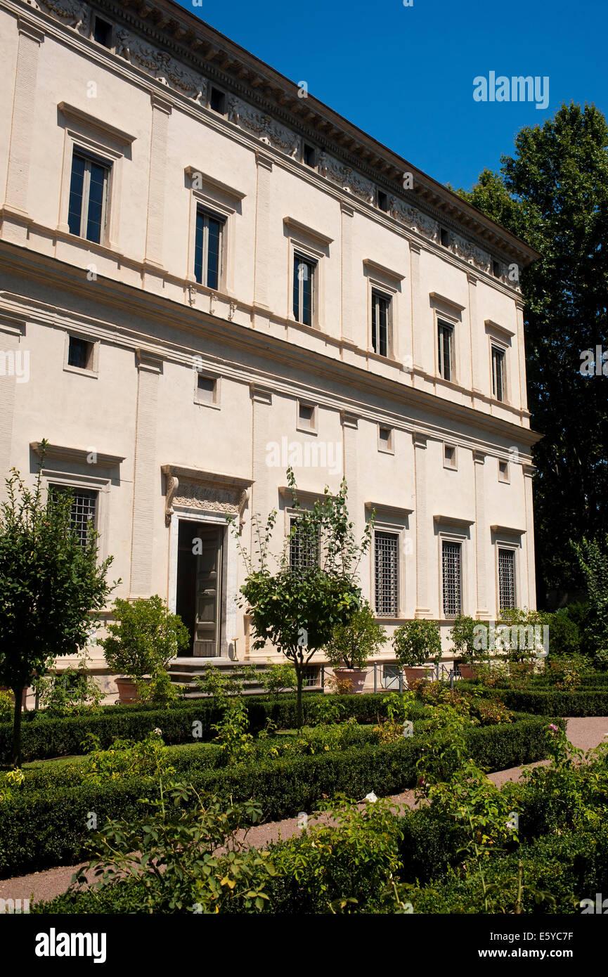 Roma Italia Villa Farnesina entrata principale Immagini Stock