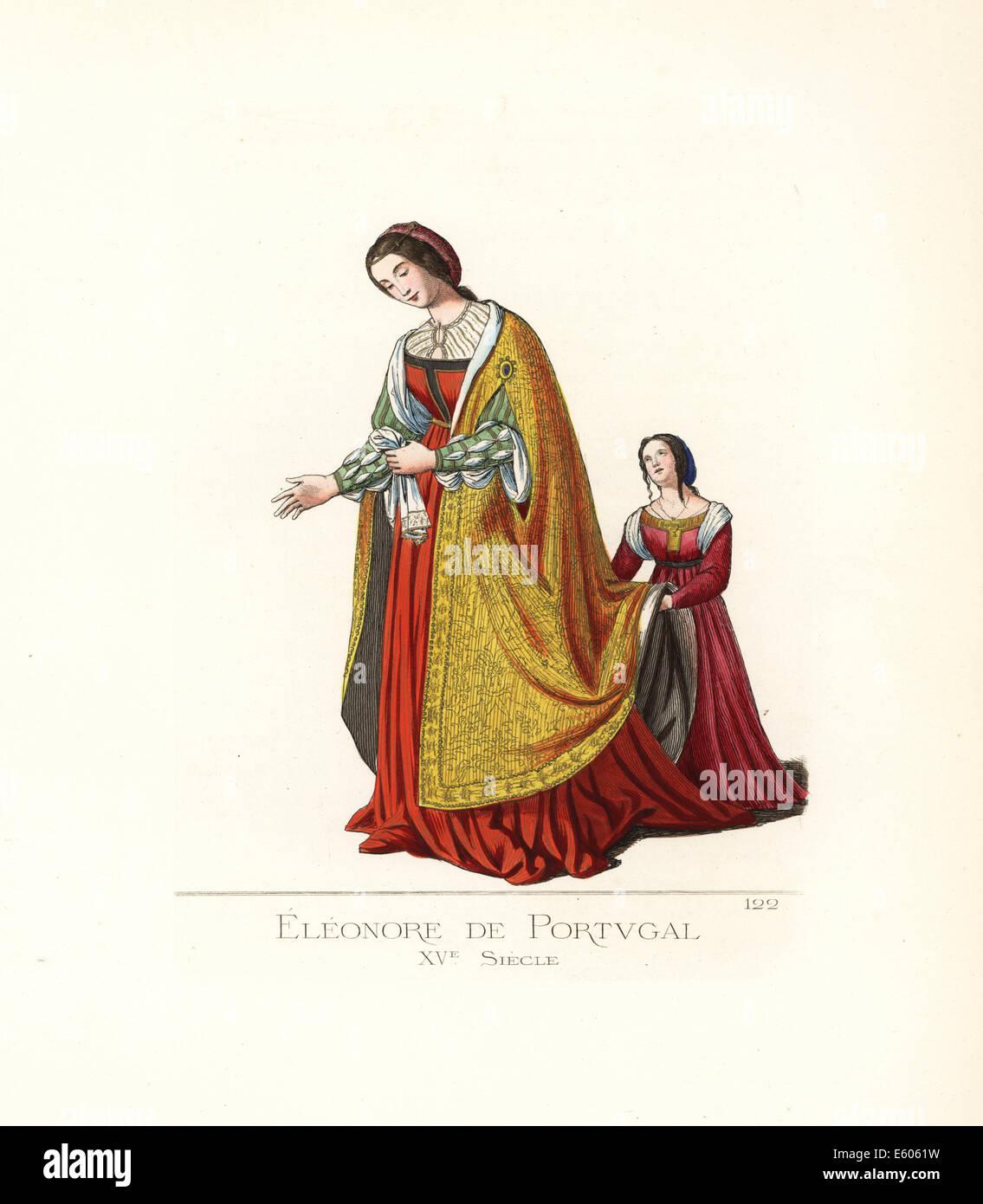 Eleonora di Portogallo, (1434-1467), consorte del sig. HRE Frederick III. Immagini Stock