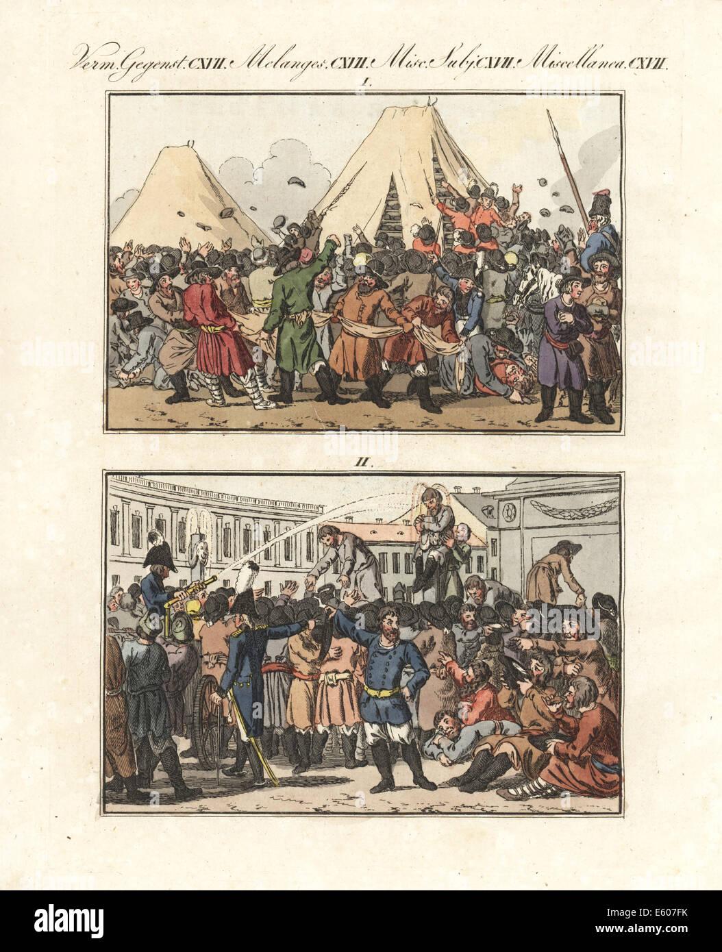 Festival russo del trattato di pace con la Svezia, 1790. Immagini Stock