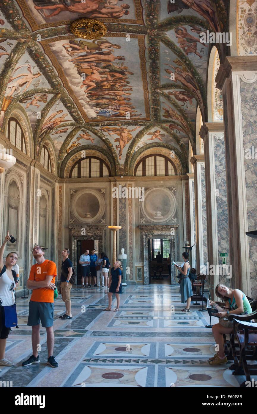 Roma Italia 2014 - Villa Farnesina è un rinascimentale villa suburbana in Via della Lungara, nel quartiere Immagini Stock