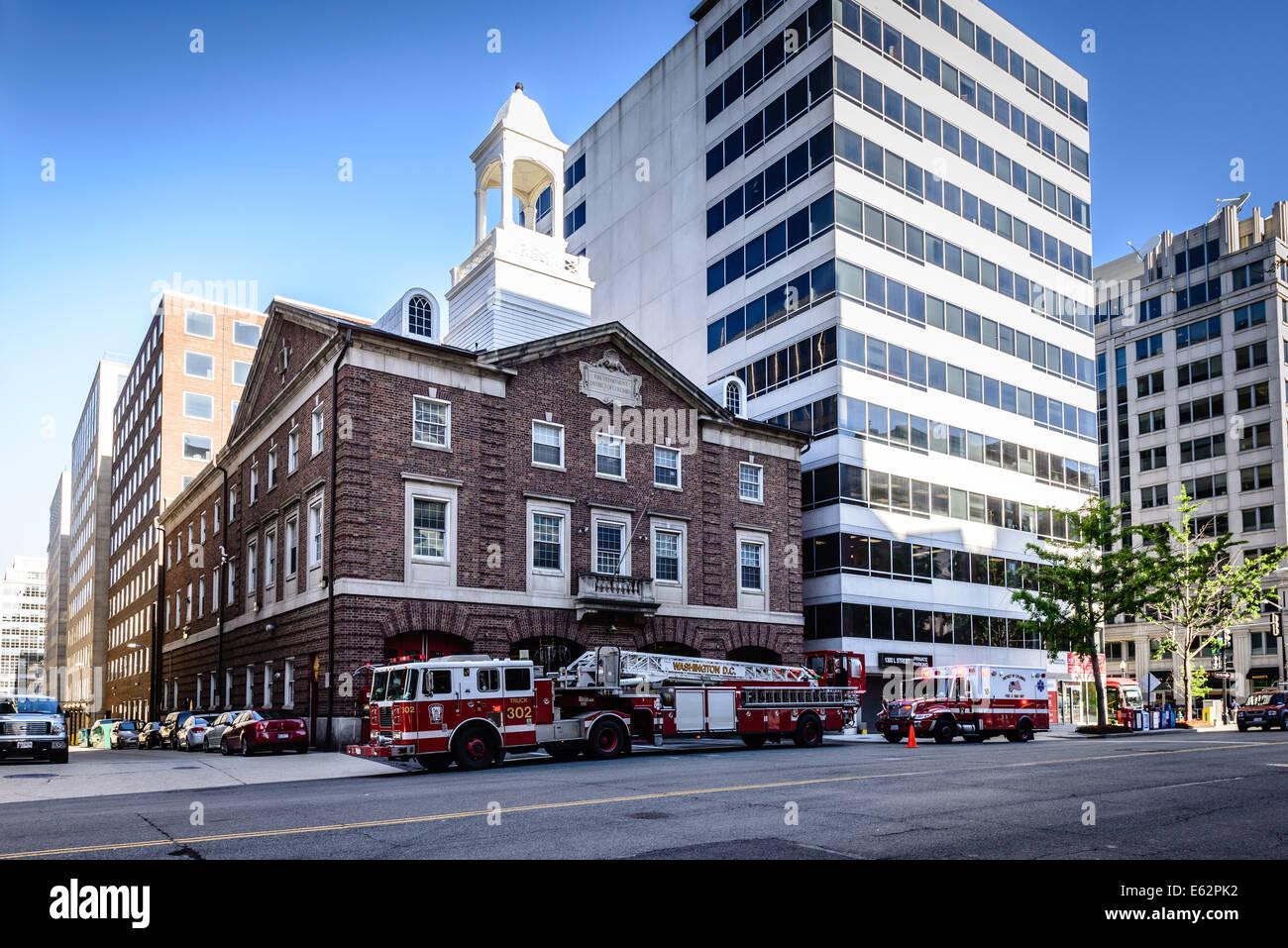 Tredicesima strada Firehouse, 1018 13th Street NW, Washington DC Foto Stock