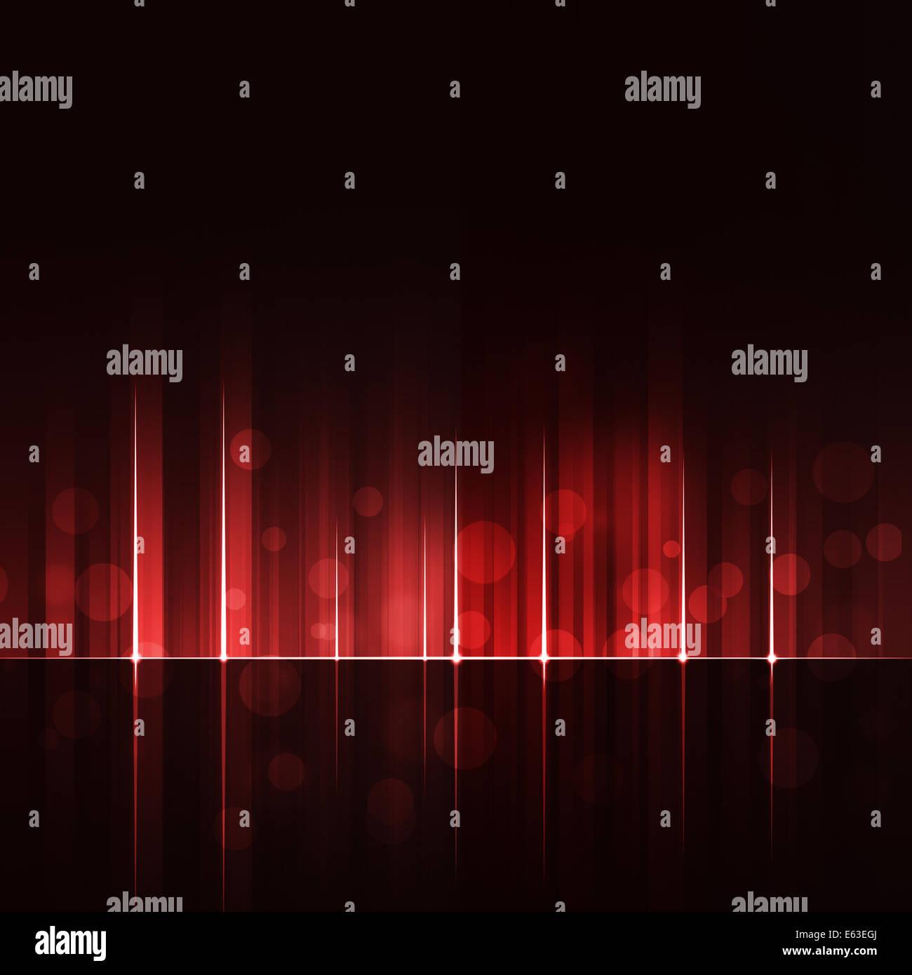 Rosso dinamico movimento astratto linee Tech sfondo digitale Immagini Stock