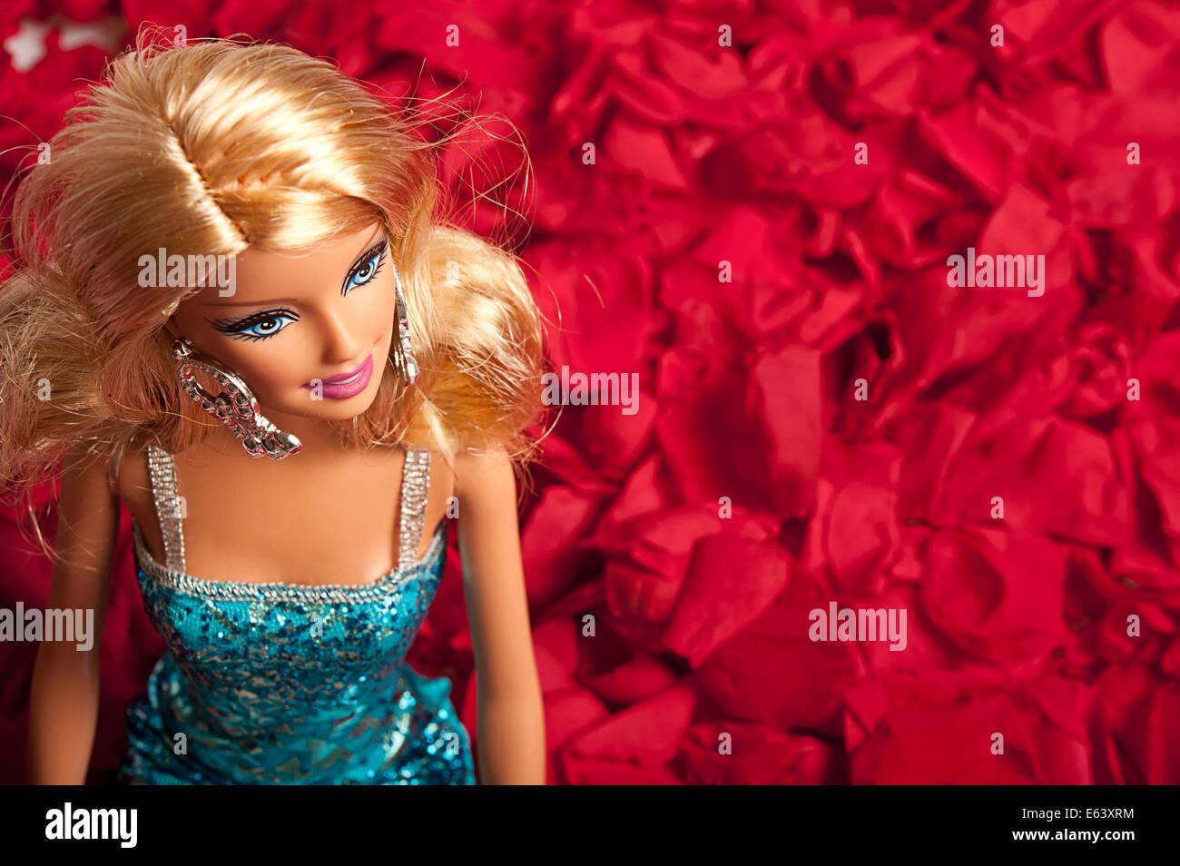 Barbie bambola o Immagini Stock