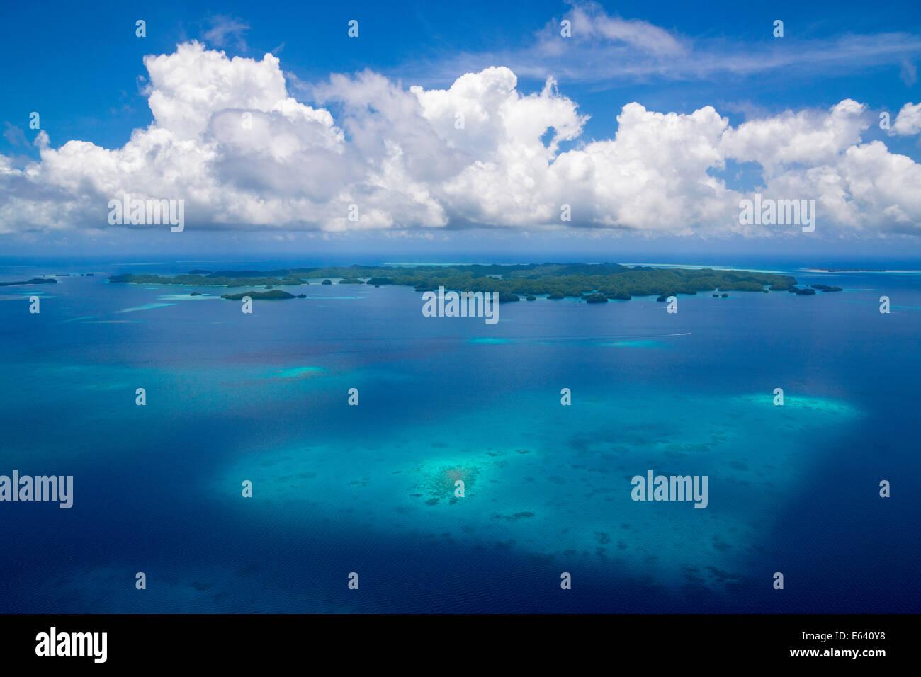 Le barriere coralline, isola paradiso, Palau, Stati Federati di Micronesia Immagini Stock