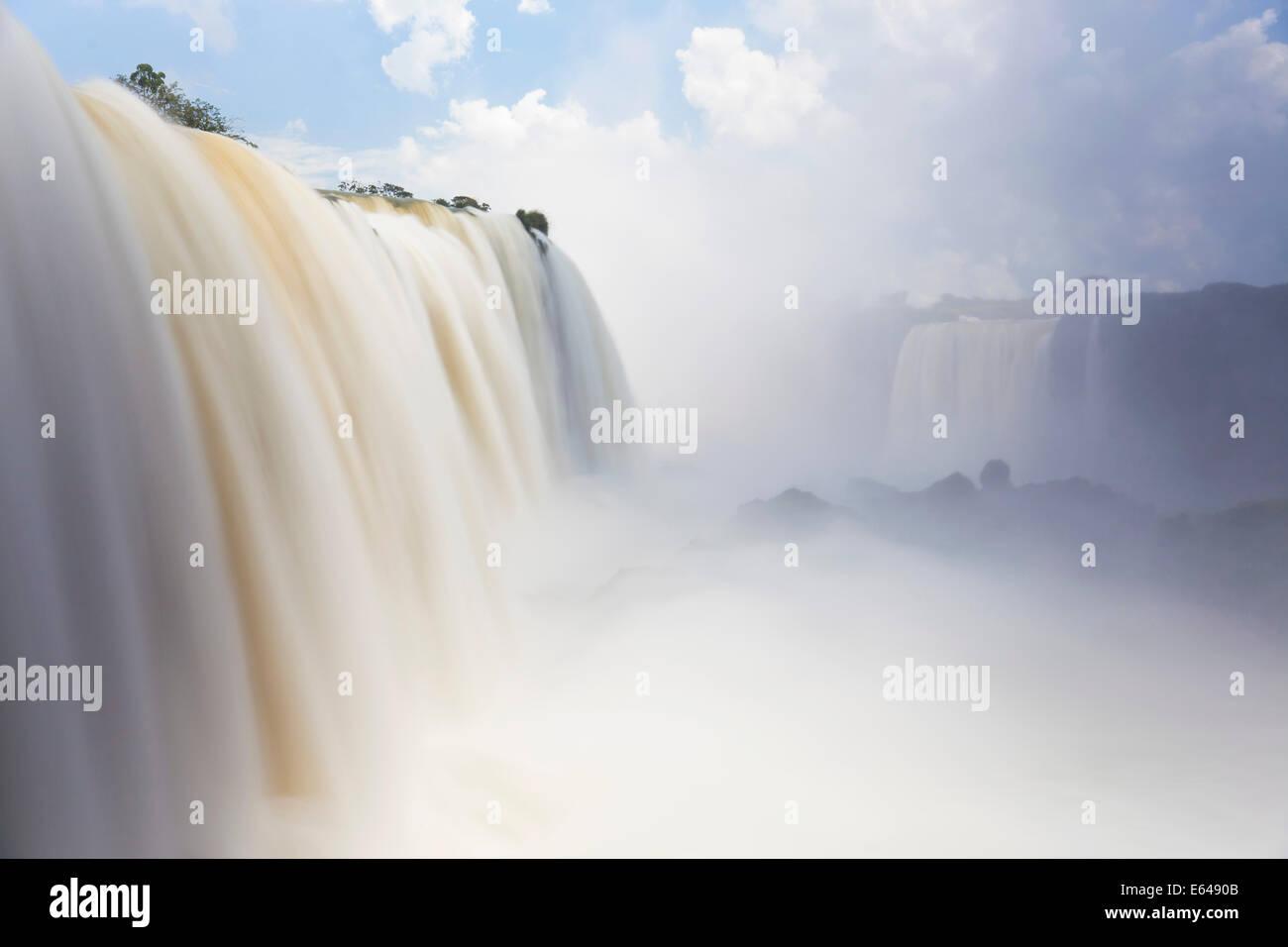 Iguacu () Iguazu Falls, cataratta Foz do Iguacu, Parana, Parco Nazionale di Iguazu, Brasile Immagini Stock