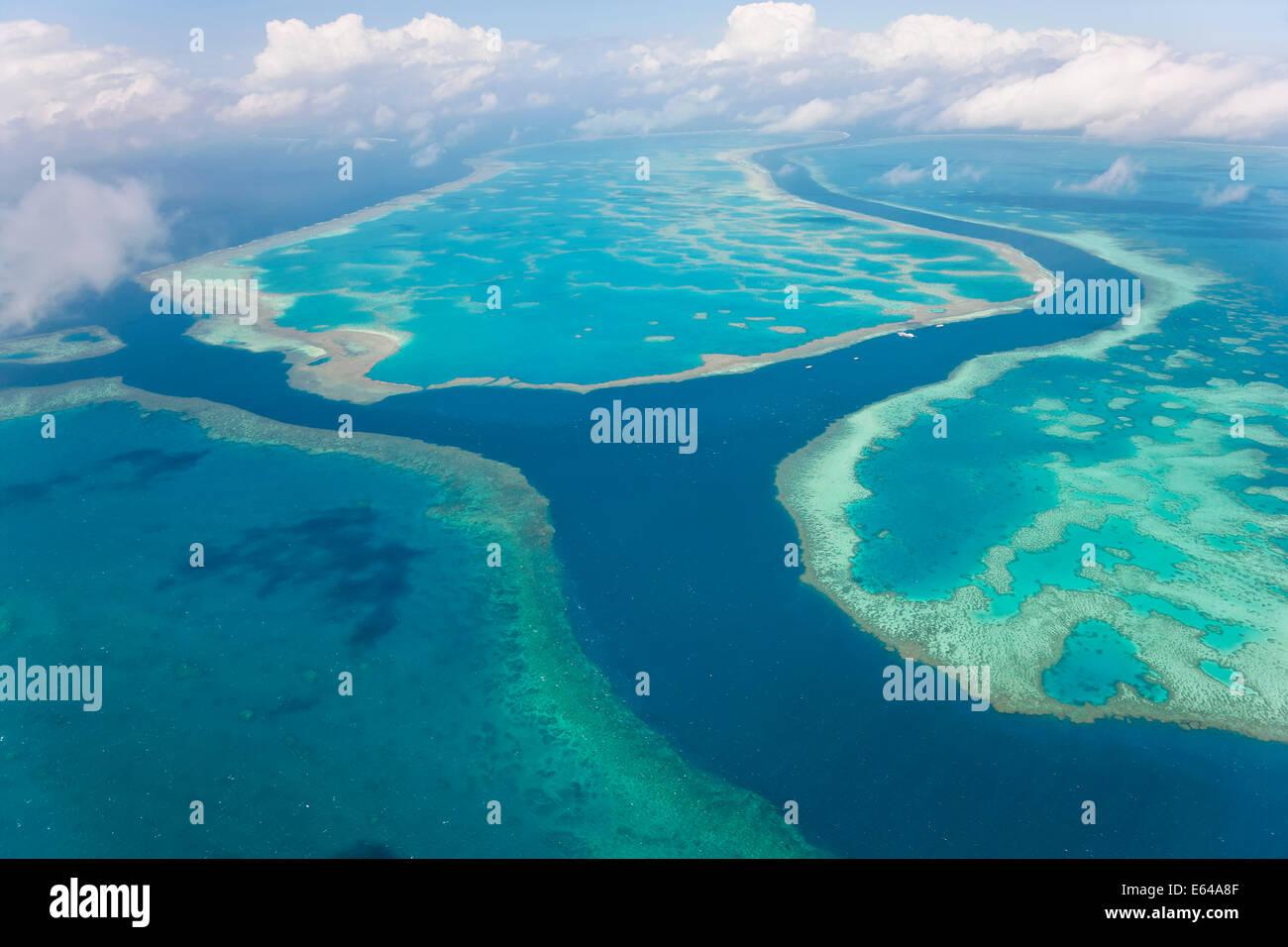 La Grande Barriera Corallina, Queensland, Australia Immagini Stock