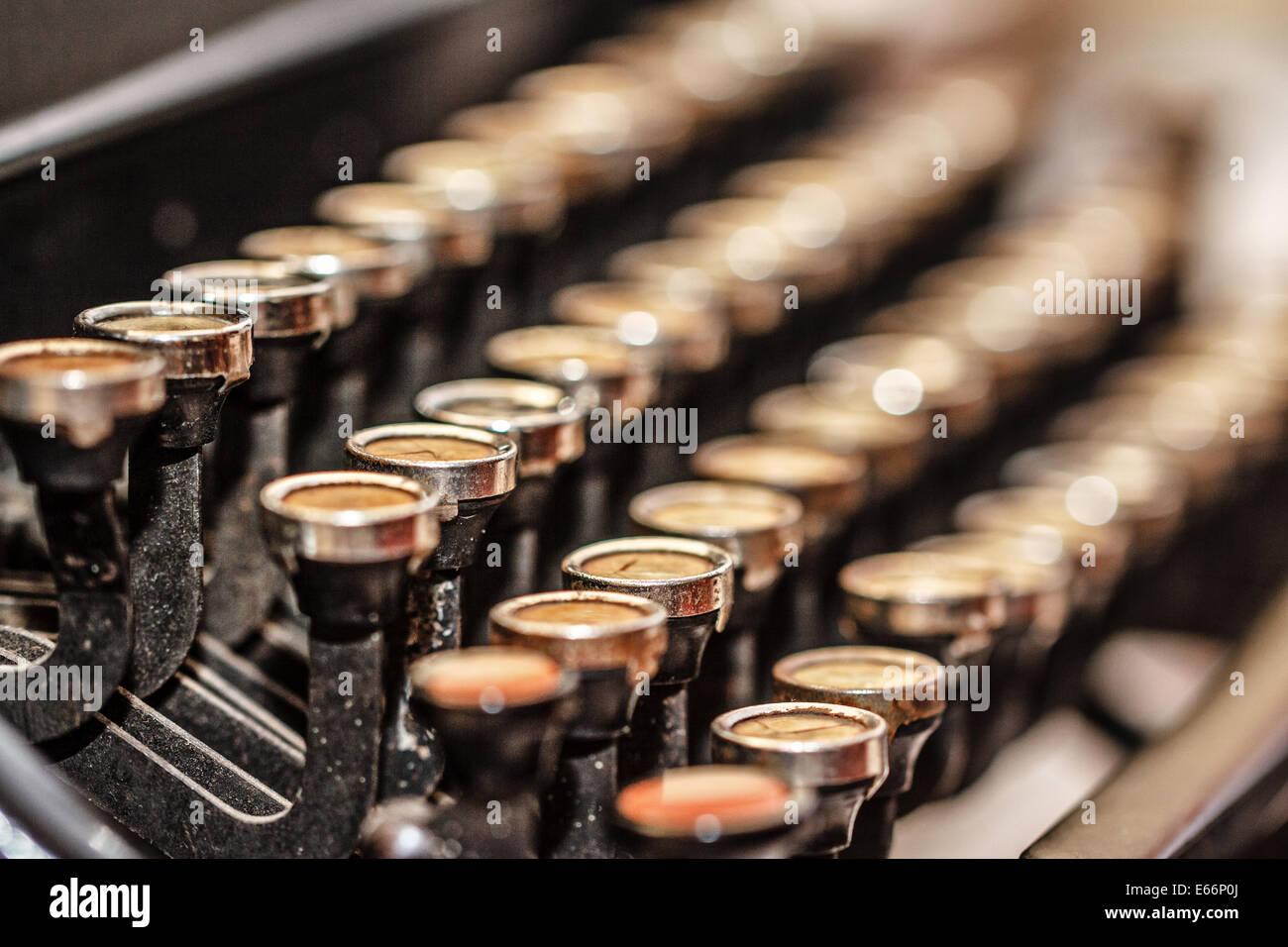 Retro Vintage typewriter closeup shot forniture per ufficio Immagini Stock