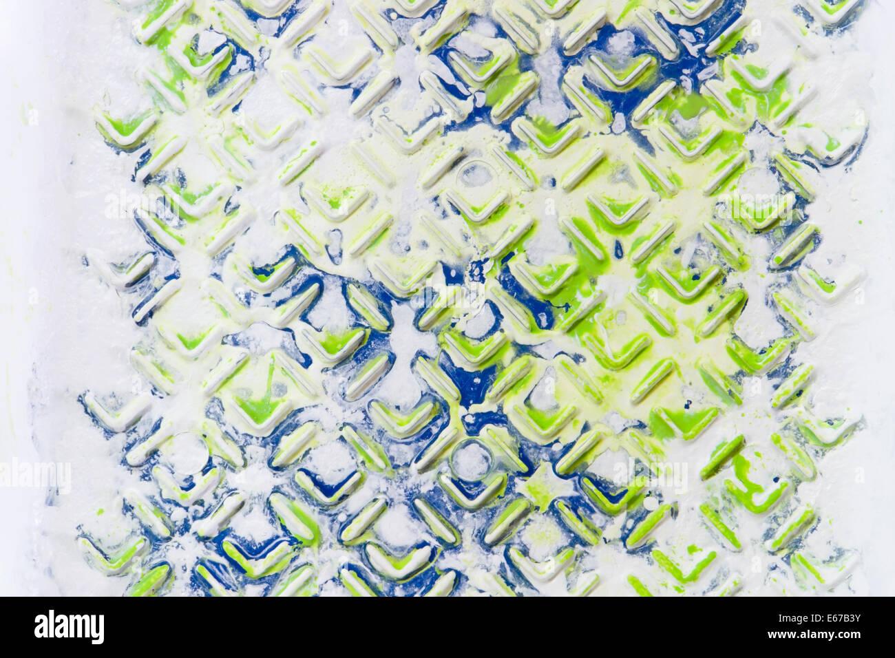 Abstract frame completo dettaglio di un dipinto di superficie strutturata Immagini Stock