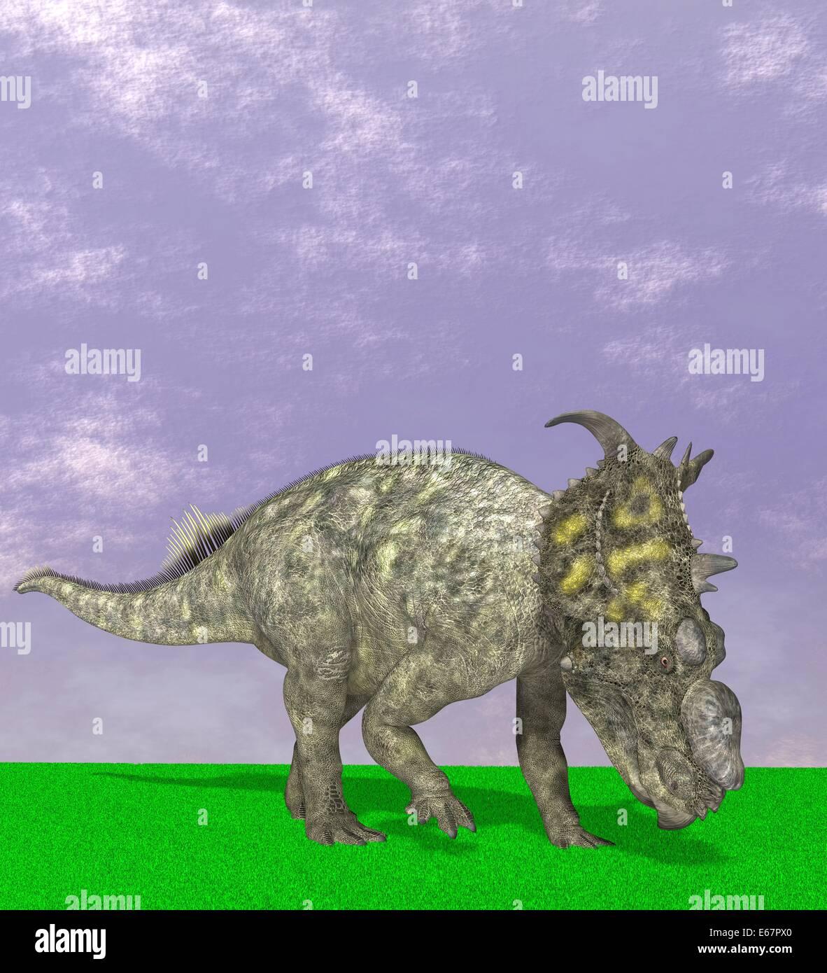 Dinosaurier Pachyrhinosaurus / Pachyrhinosaurus dinosauro Foto Stock