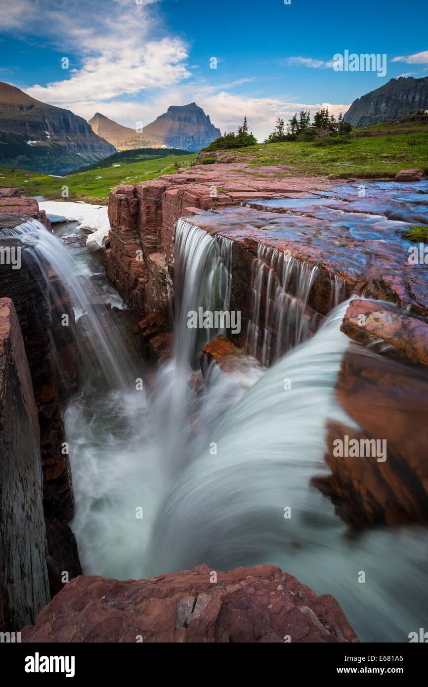 Logan pass nel Parco Nazionale di Glacier, Montana, situato nei pressi della US-i confini del Canada Immagini Stock