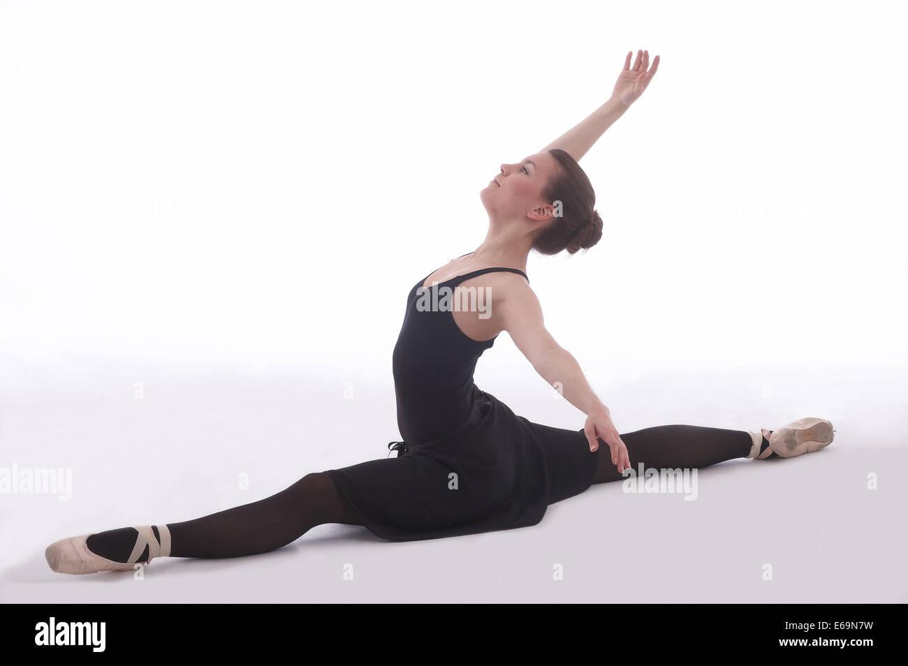 Bilanciamento atto,ballerina Immagini Stock