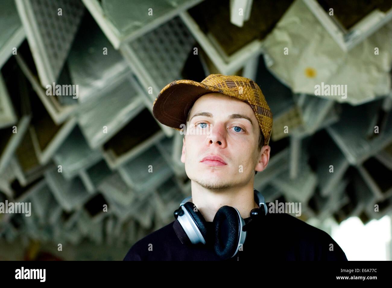 Adolescente,musica,ascoltare,cultura giovanile Immagini Stock