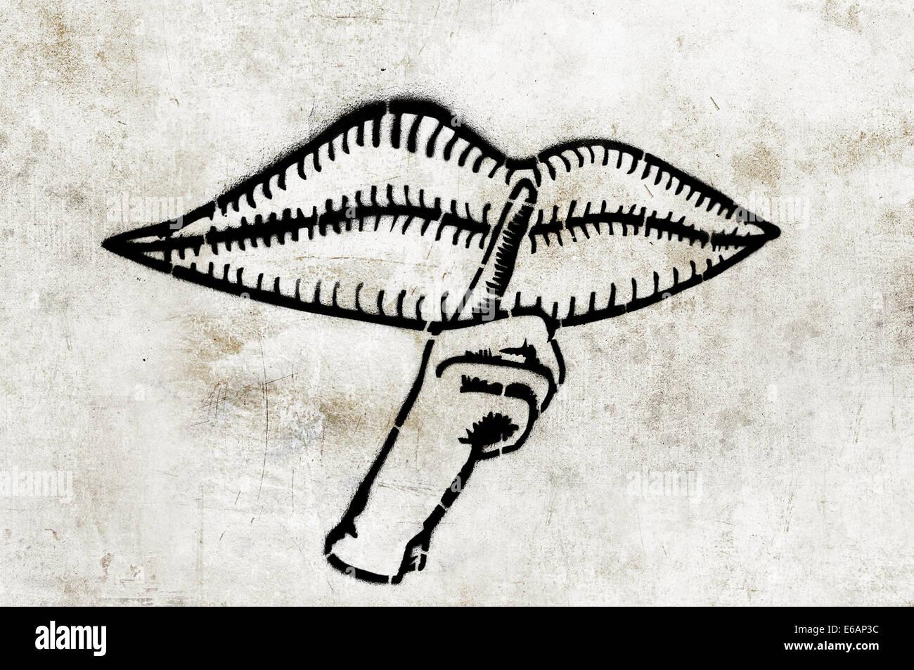 Tranquillo,graffiti,gesto Immagini Stock