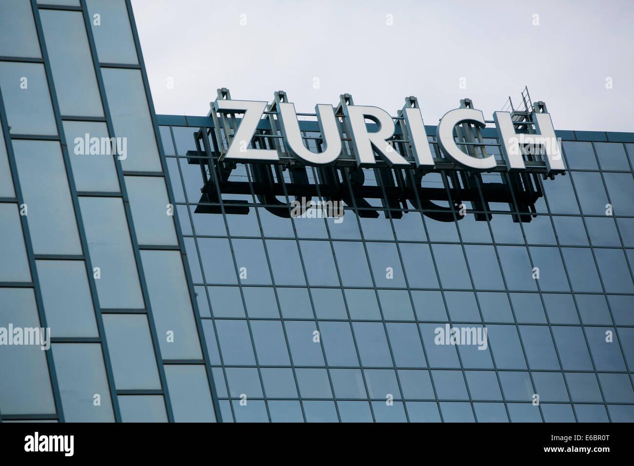 La sede centrale di Zurigo Nord America in Schaumburg, Illinois. Immagini Stock
