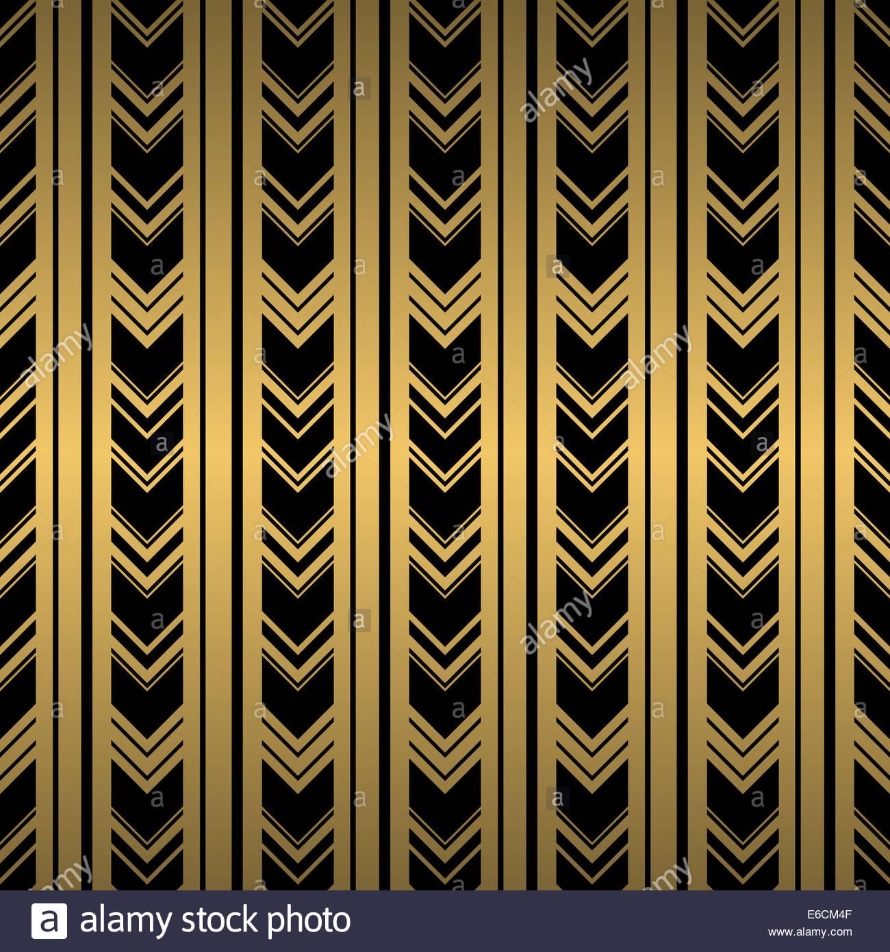 Carta Da Parati Nera nero e oro perfetta ripetizione di sfondo carta da parati