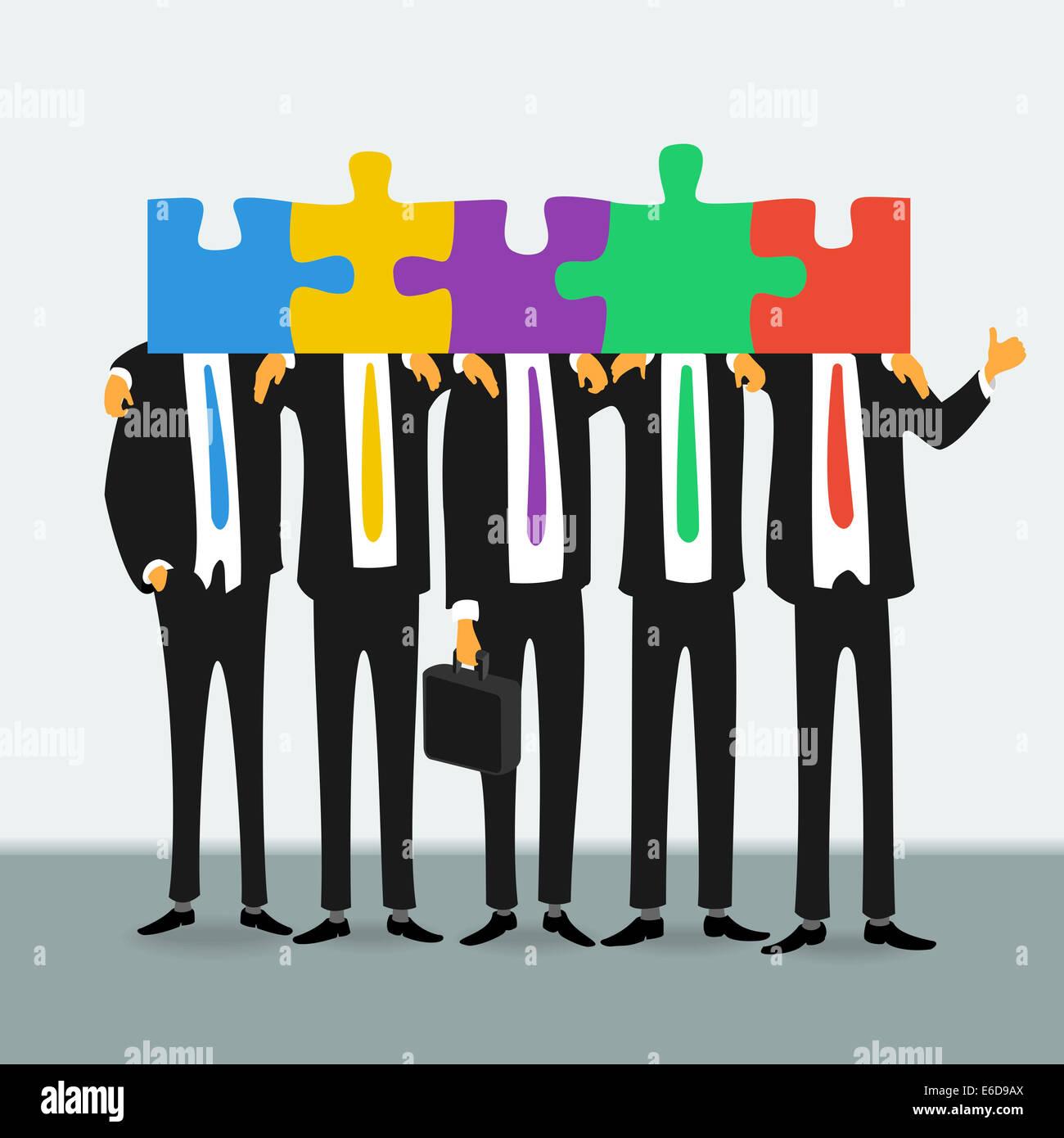 Il Team di business di successo di persone Immagini Stock