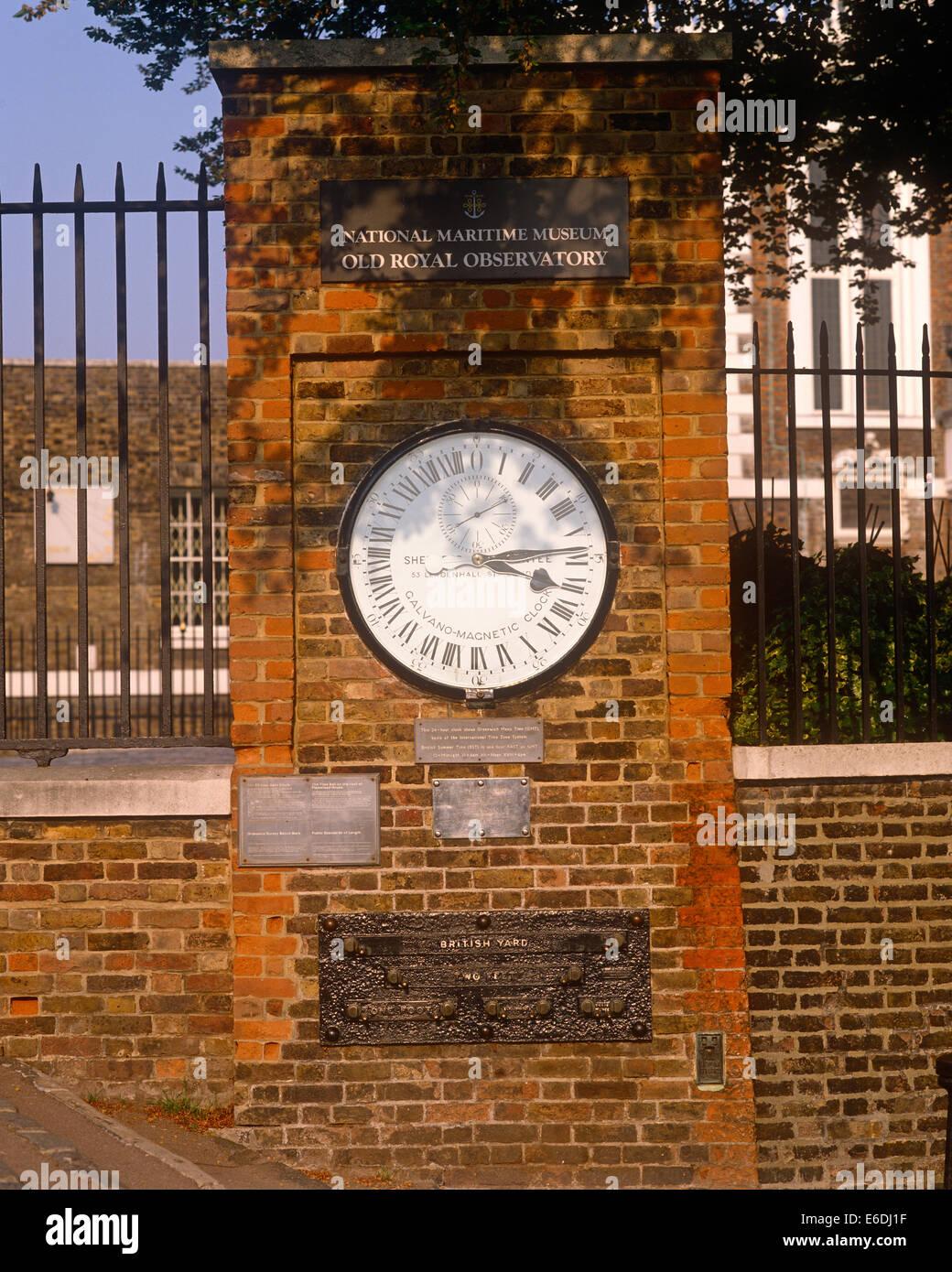 Il vecchio osservatorio Reale di Greenwich London REGNO UNITO Immagini Stock