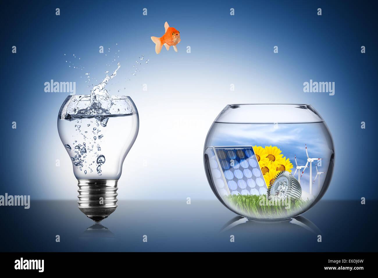 Pesce energia concetto di modifica Immagini Stock