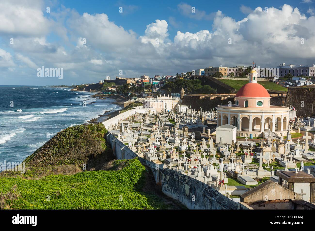 Il Cimitero di Santa Maria Magdalena, San Juan di Porto Rico Immagini Stock