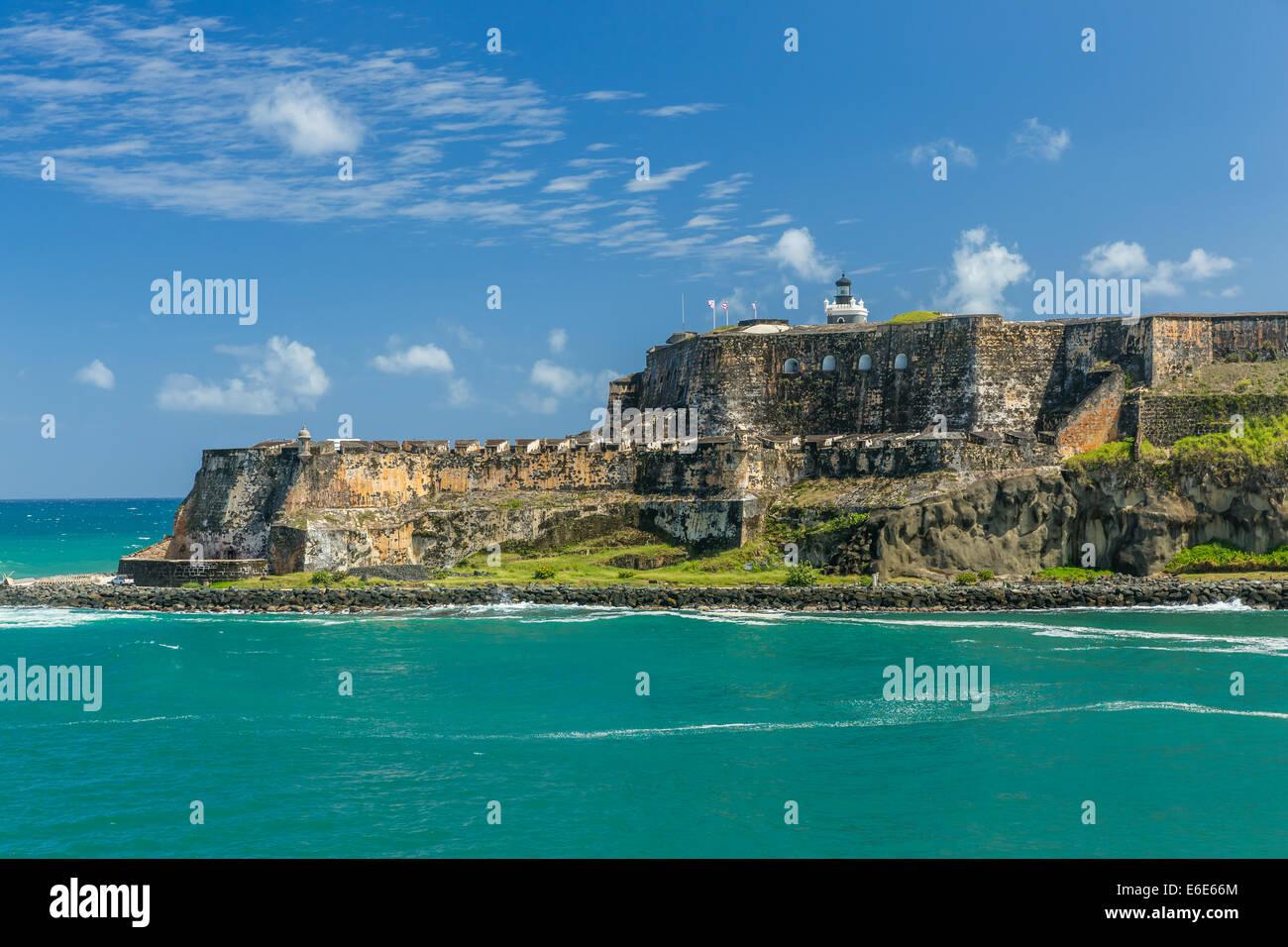 Fort San Felipe del Moro, San Juan di Porto Rico Immagini Stock