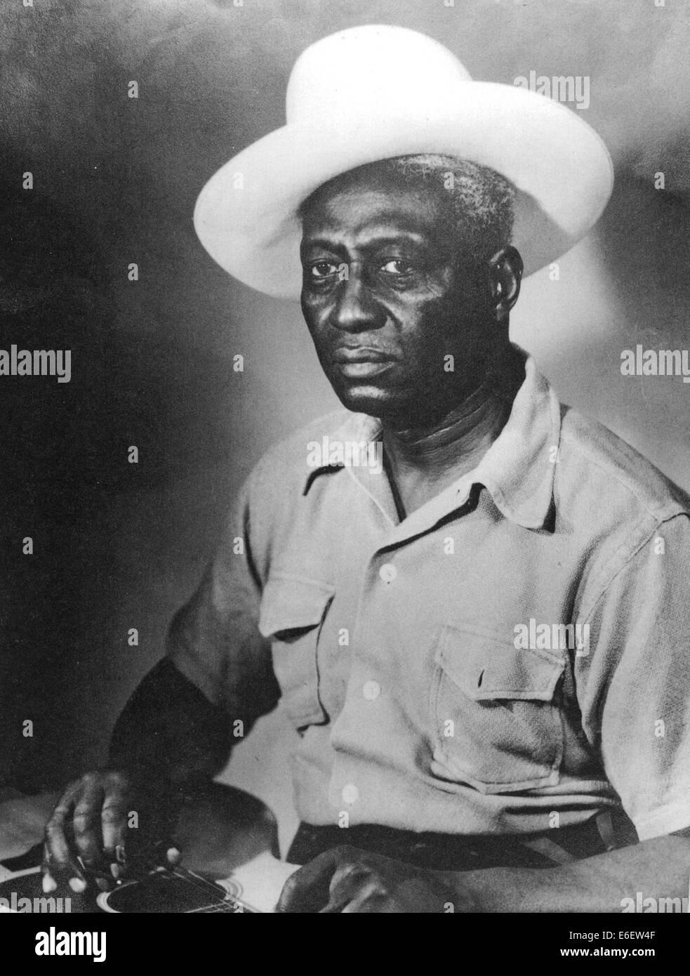Ventre di piombo (1888-1949) US Blues e musicista folk Immagini Stock