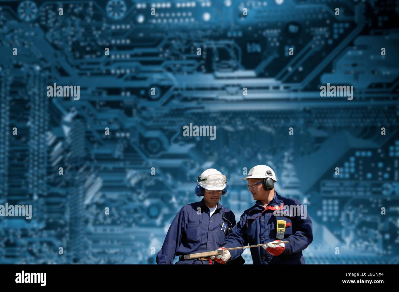Ingegneria e tecnologia concept Immagini Stock