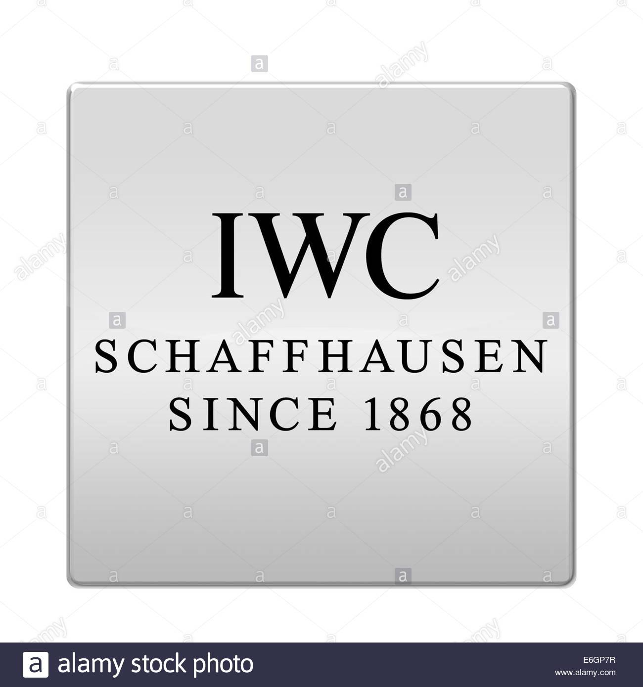 International Watch Company IWC icona logo isolato pulsante app Immagini Stock