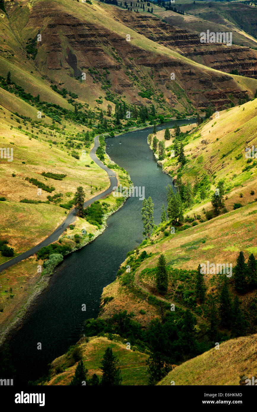 Grand Ronde selvatica e Scenic River Canyon e. Oregon Immagini Stock