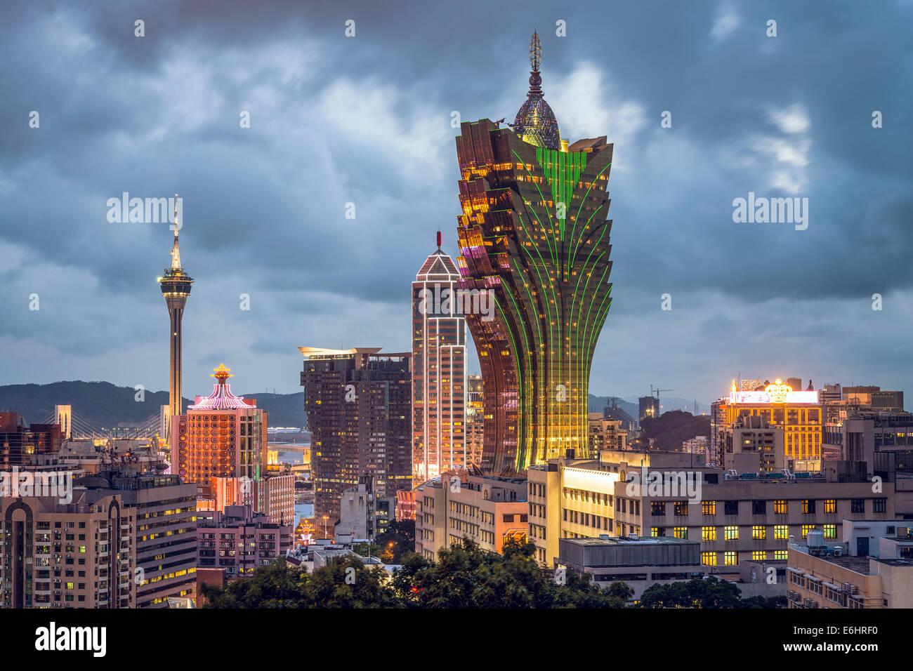 Macao Cina lo skyline della citta'. Immagini Stock