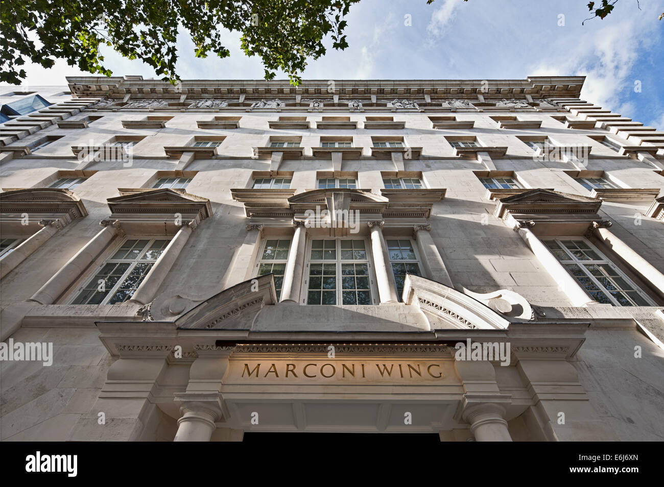 Casa Marconi - uno sviluppo residenziale in The Strand, Londra Immagini Stock
