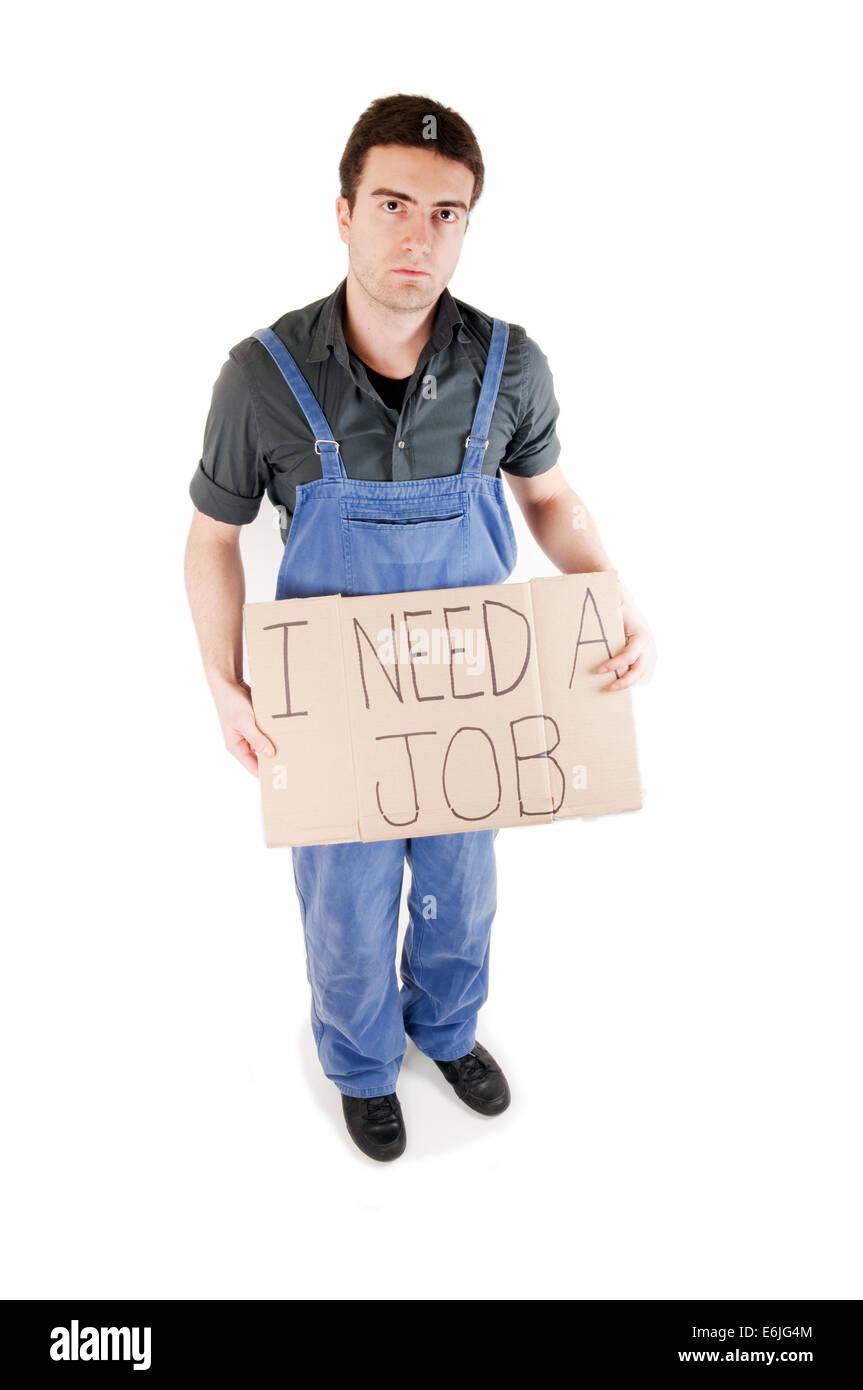 Ritratto permanente di un lavoratore licenziato Immagini Stock