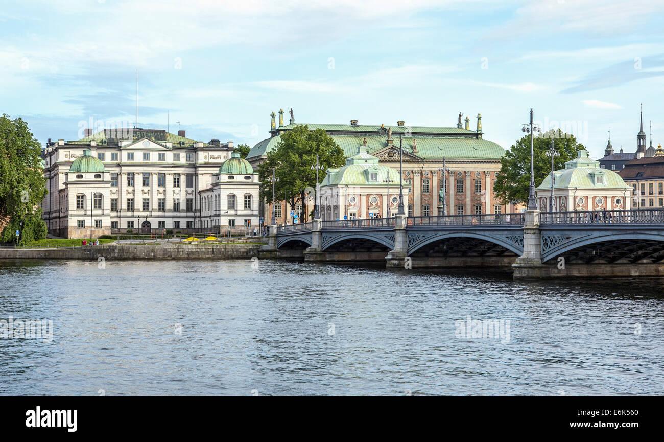 Bonde Palace e la Casa della Nobiltà, Bondeska palatset, Riddarhuset, centro storico, Gamla Stan, Stoccolma, Immagini Stock