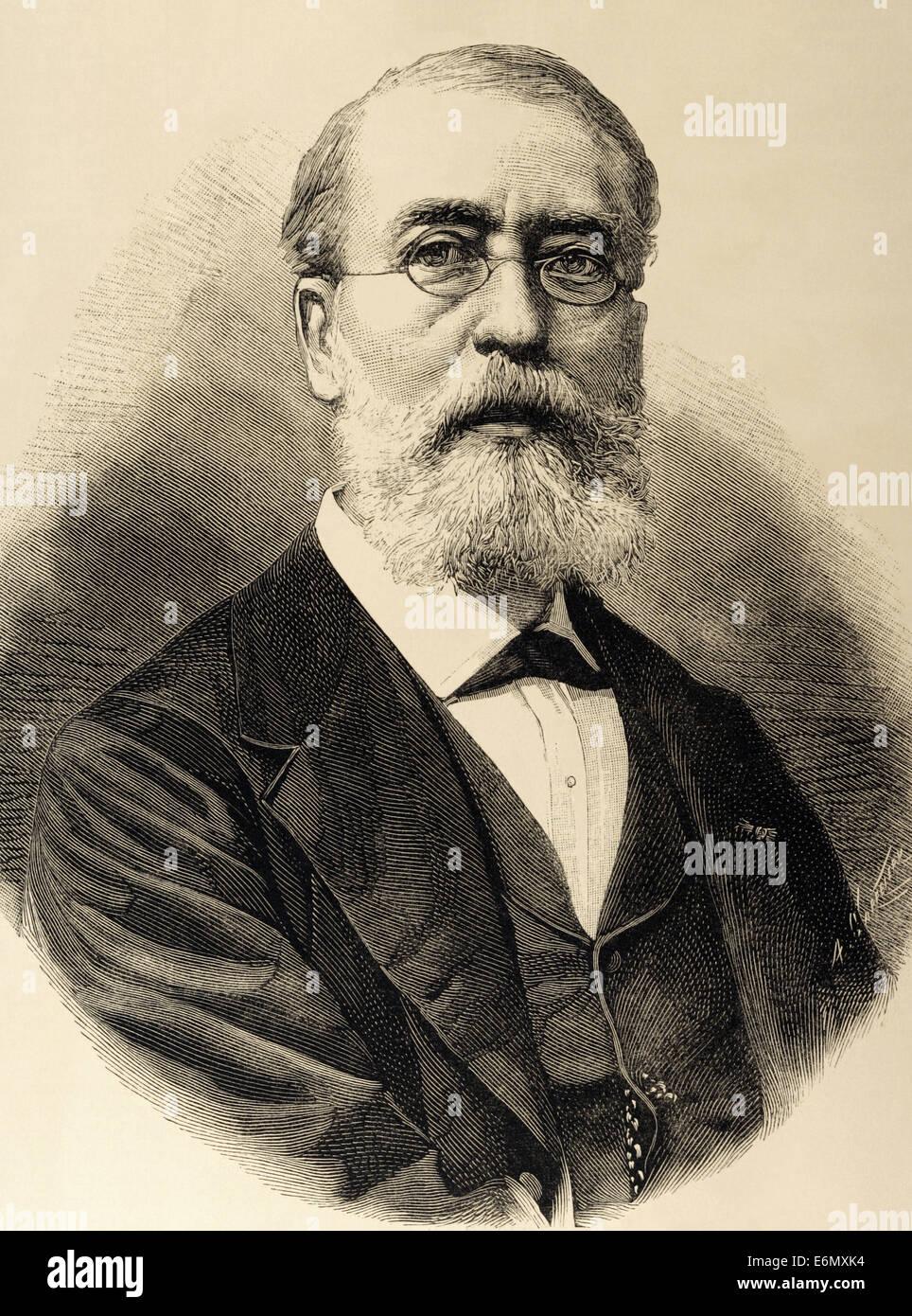 """Marc Auguste (1818-1886). Illustratore francese. Direttore della rivista """"L'immagine"""" dal 1860 al Immagini Stock"""