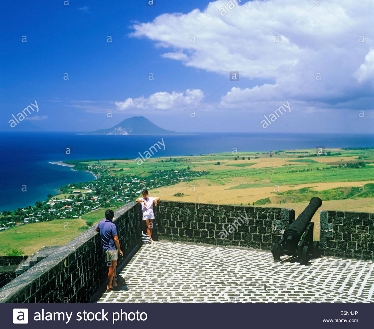Brimstone Hill Fortress sull'isola caraibica di Saint Kitts nella nazione di Saint Kitts e Nevis Foto Stock